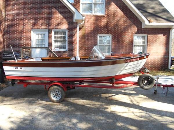 1954 14 Ft Wooden Barbour Boat 1400 Boats In Atlanta