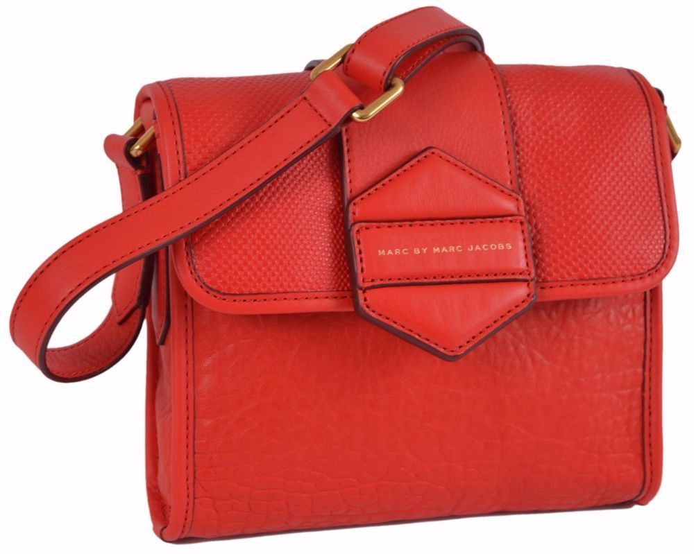 NEW Marc By Marc Jacobs M0004767 Flipping Out RED Leather Crossbody Purse  Bag  MarcbyMarcJacobs   a3e19db73e45
