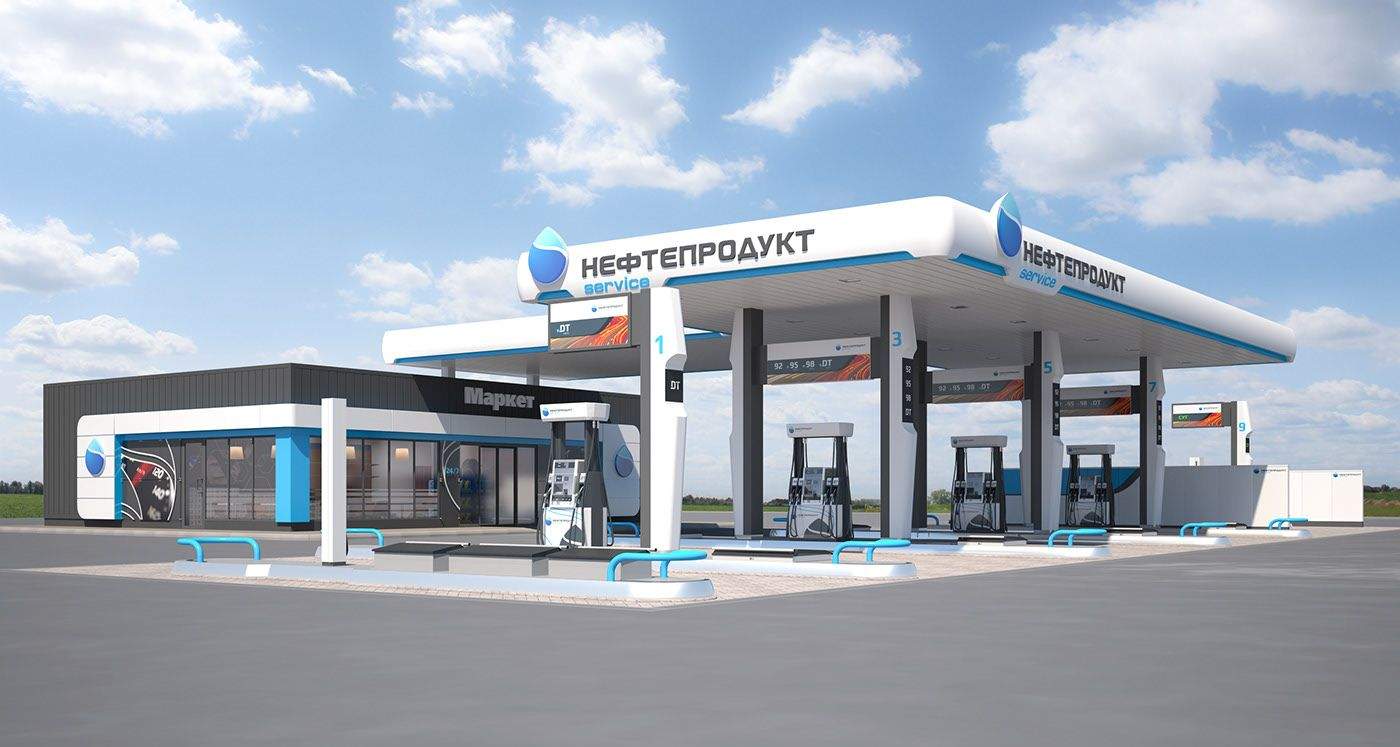 Design Of Filling Stations Nps On Behance In 2020 Design Station Minecraft City Buildings