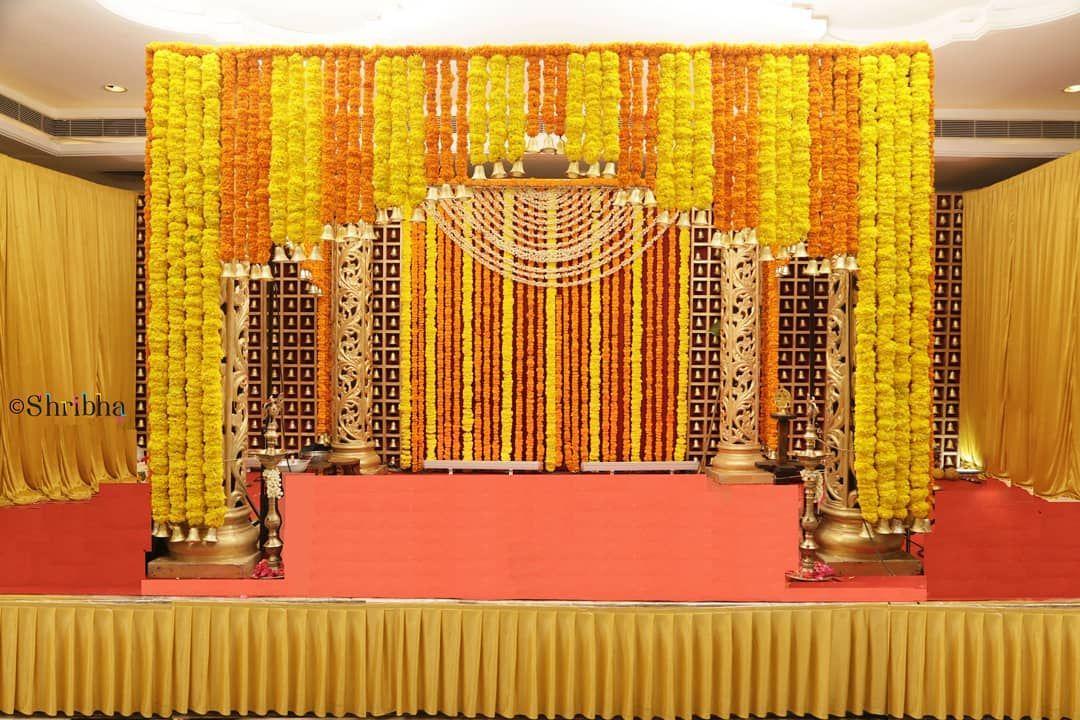 Shribha Events On Instagram A Traditional Mandap Wedding Decor With All Ele Indian Wedding Decorations Receptions Hindu Wedding Decorations Stage Decorations