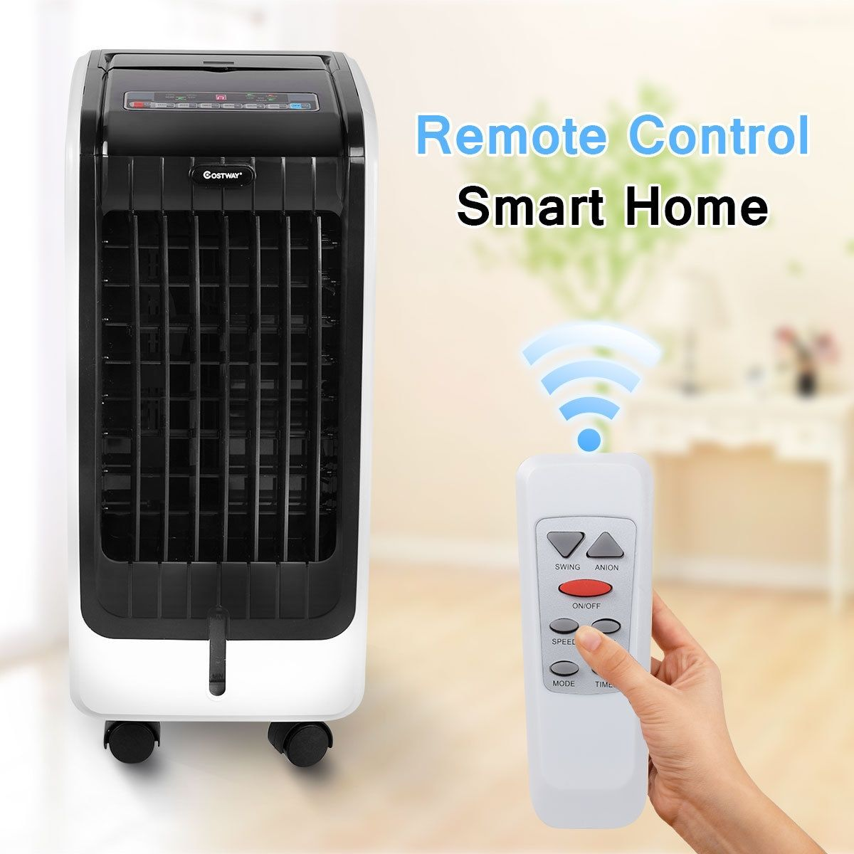 Portable Cooling Touch Pad Remote Evaporative Fan