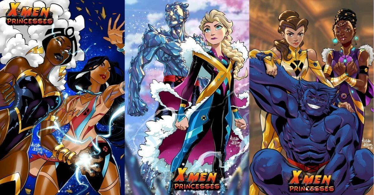 Disney princesses and xmen mashup marvel fan collides
