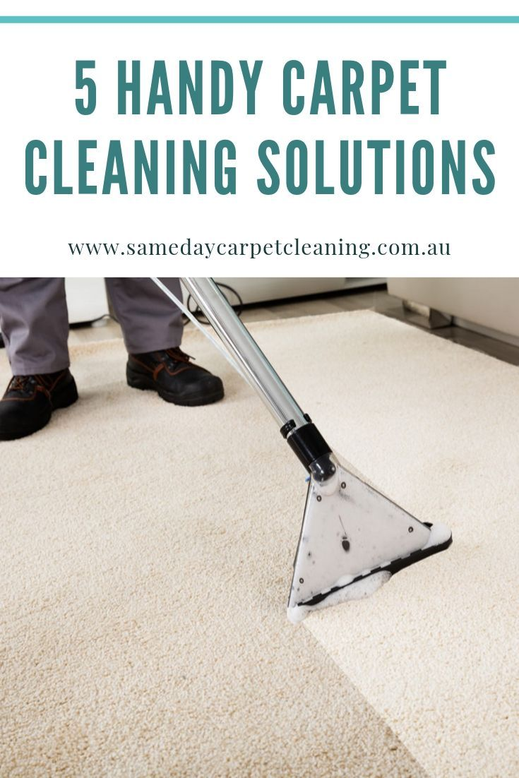 5 Handy Carpet Cleaning Solutions Carpet cleaning