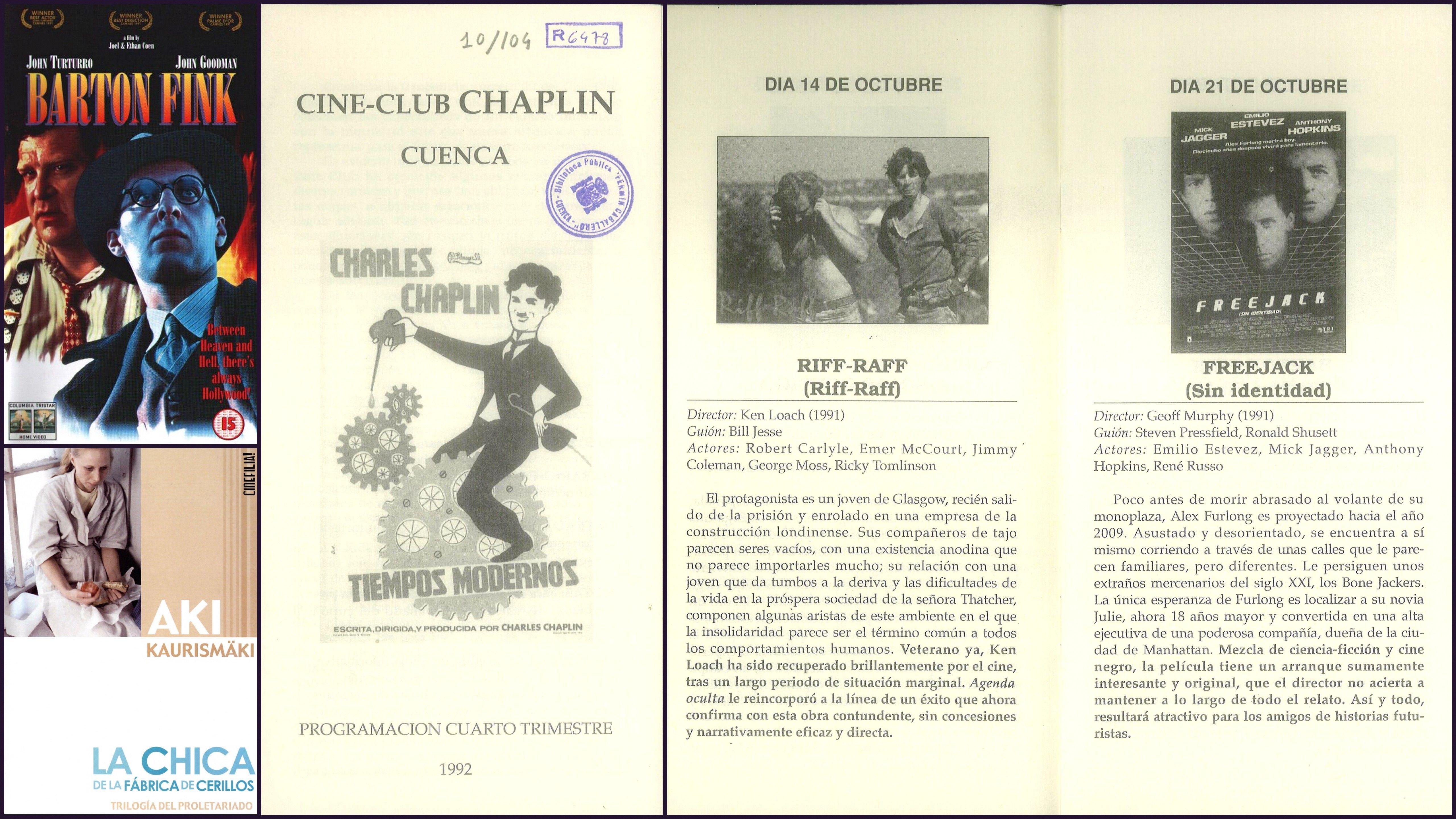 Programación Cine-Club \