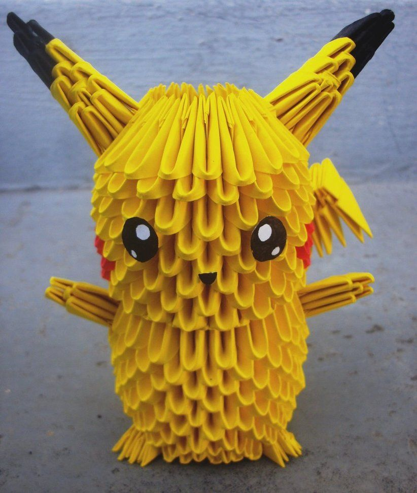 origami  | 25 Pikachu - 3D origami by ~SophieEkard on deviantART