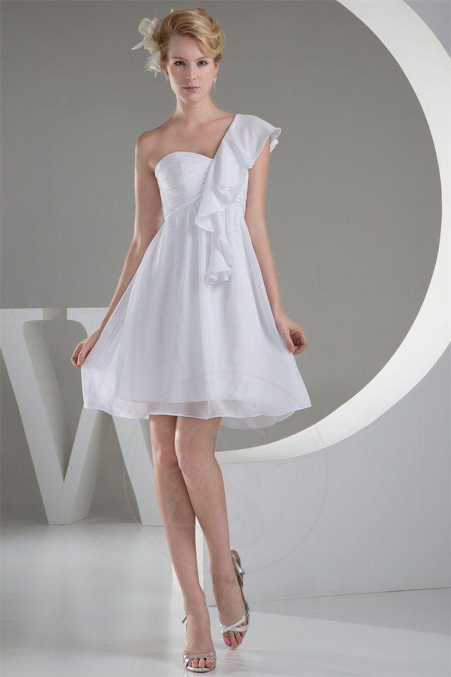 Reißverschluss rückenfreies knielanges Brautkleid - Bild 1 ...