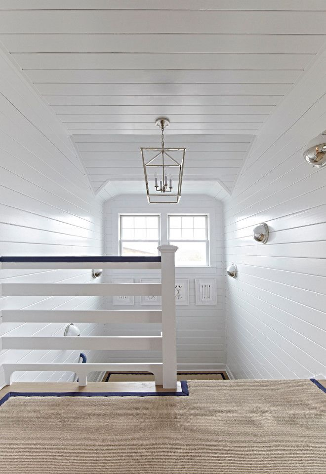 Beach Cottage With Crisp And Fresh Coastal Interiors Staircase Runner From Sacco Carpet Coastal Living Rooms Beach Cottage Style Interior Staircase
