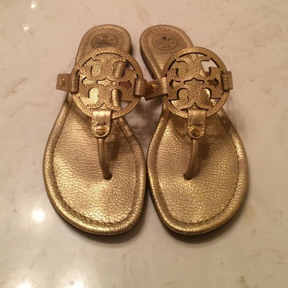 d3976bc5b36b6 Tory Burch Gold Miller sandals Size 8.5 Tory burch gold miller sandals in  excellent condition. Tory Burch Shoes Sandals