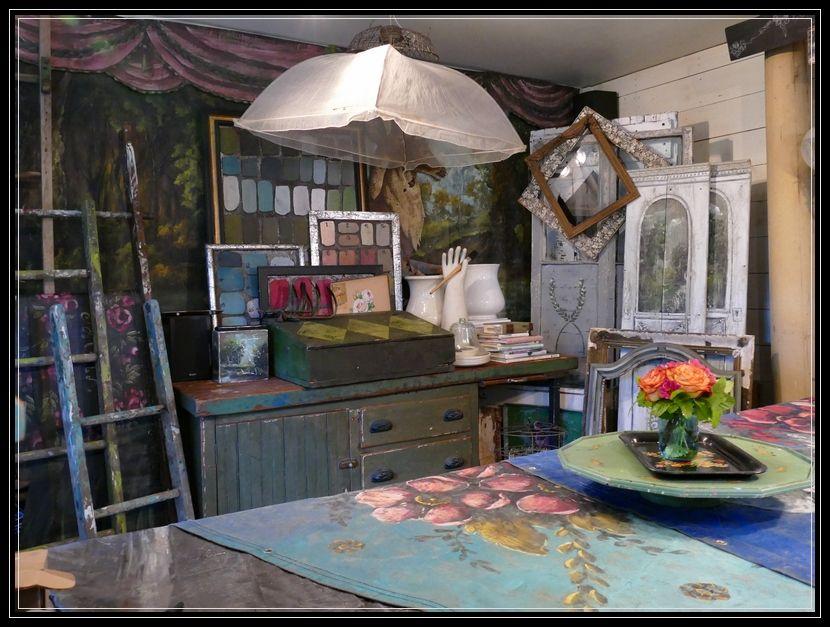 Inside the art studio of jennifer lanne house and home