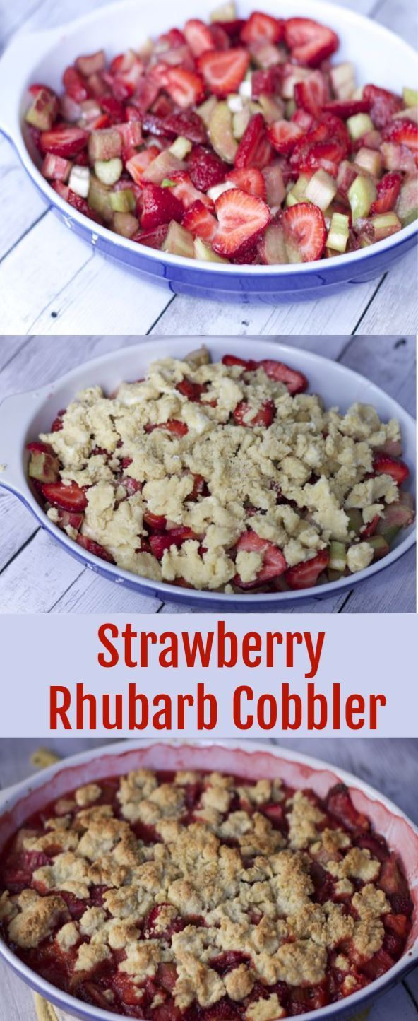 Strawberry Rhubarb Cobbler Serve this strawberry Rhubarb Cobbler recipe up with some ice cream or whipped cream for the ultimate summer strawberry Rhubarb Dessert. How to make the perfect cobbler recipe