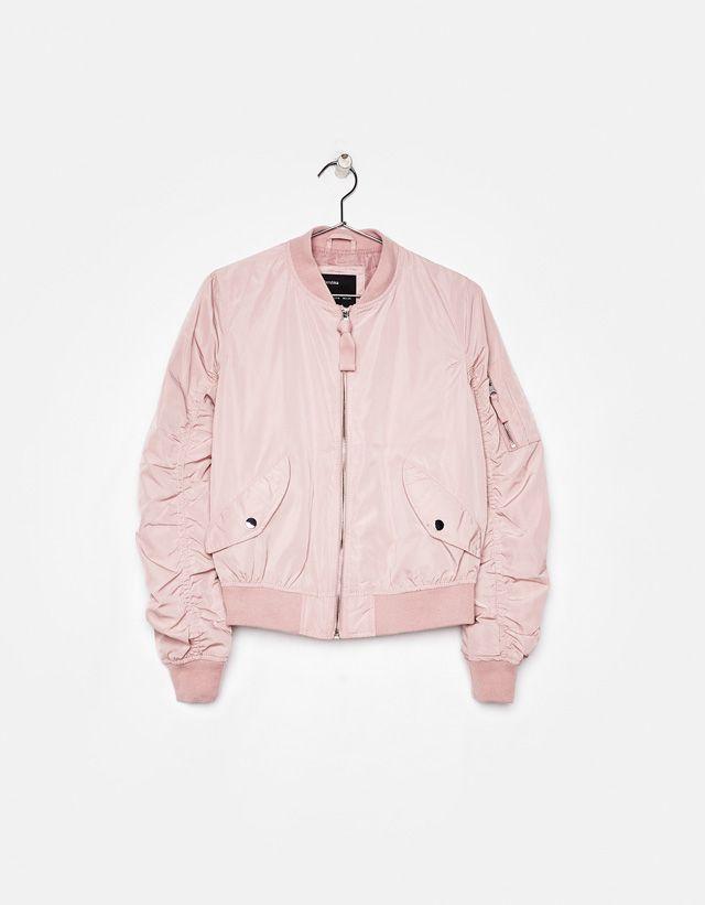 muchos estilos oferta más popular Bomber jacket - Bershka #fashion #product #pink #trend ...