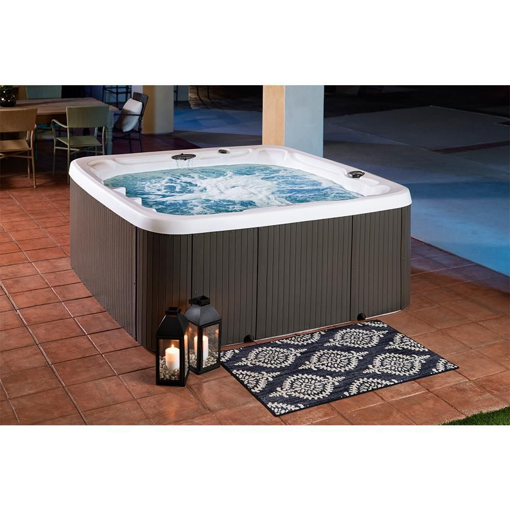 Lifesmart Ls700dx 7 Person 90 Jet 230 Volt Spa With Waterfall 401431510200 19 The Home Depot Hot Tub Tub Underwater Led Lights
