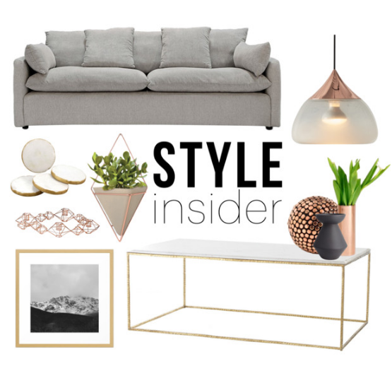 Get The Style  Marble & Copper Living room is part of Home Accessories Shop Living Rooms - Visit the post for more