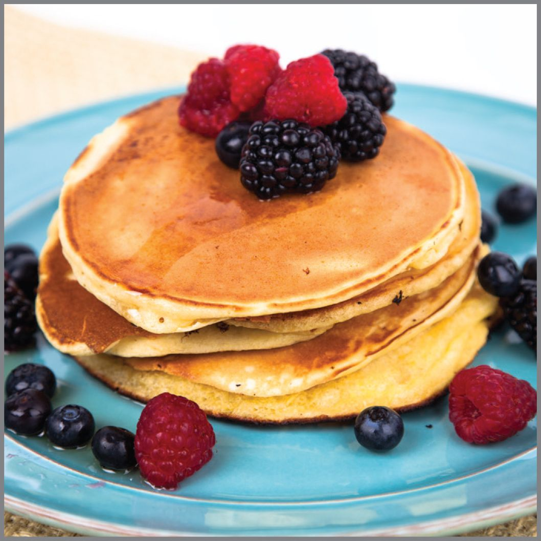 Pancakes With Berries Aunt Jemima Visual Recipe And