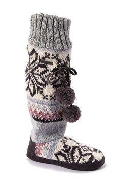 Angie Star Snowflake Slipper Boot