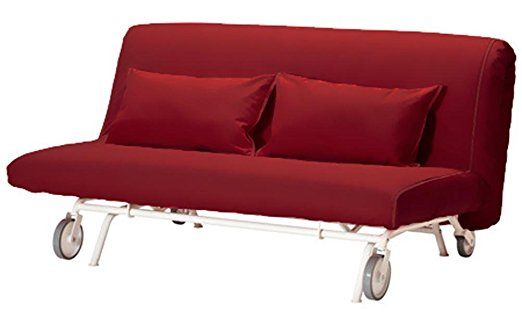 Cotton Ps Lovas Two Seat Cover Replacement Is Custom Made For Ikea Ps Sofa Bed Sleeper Or Futon Slipcover Wine Red Ikea Sofa Futon Sofa Ikea Bed