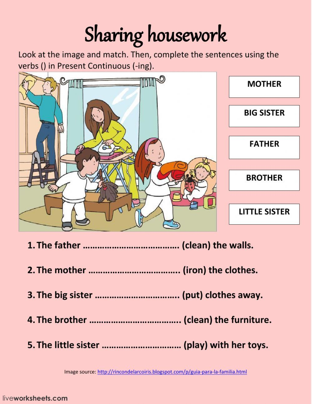 The family interactive and downloadable worksheet. You can do the exercises  online or dow…   English lessons for kids [ 1291 x 1000 Pixel ]