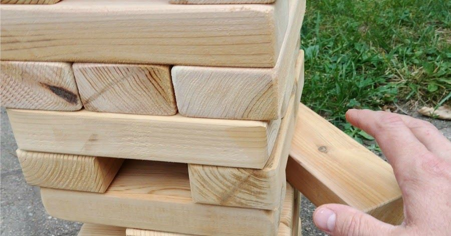 How to Make a Outdoor Giant JENGA game (AND teach your ...