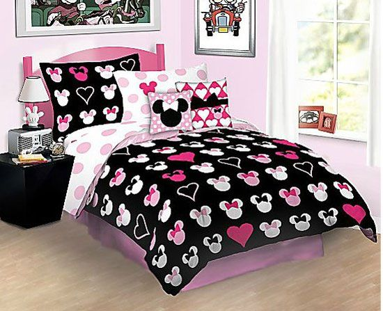 Minnie Mouse Car | Disney Minnie Mouse Love Full Bed In Bag Bedding Set