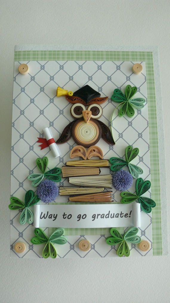 Quilling Greeting Card: Graduation card Graduate High School ...