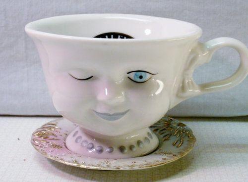 Winking teacup #airfreshnerdolls