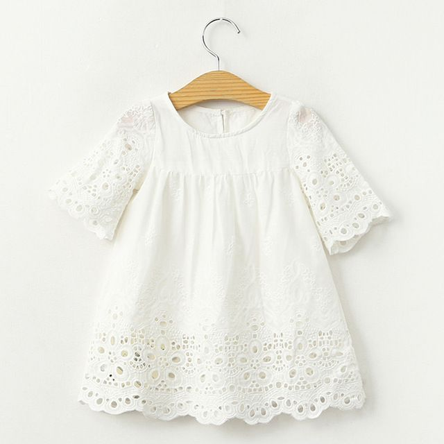 Nuevas blusas de verano para niñas, blusas de encaje blanco, Tops con huecos, camisetas para niños, Linda camiseta para bebés, camisetas para niños, ropa informal para niños