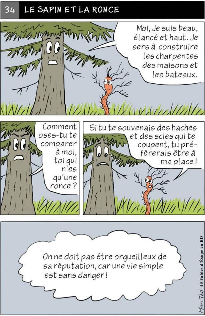 Fable d'Esope en BD - LE SAPIN ET LA RONCE   Teaching ...