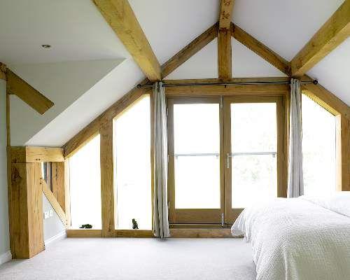 Master bedroom | ::windows:: | Pinterest | Oak framed buildings ...