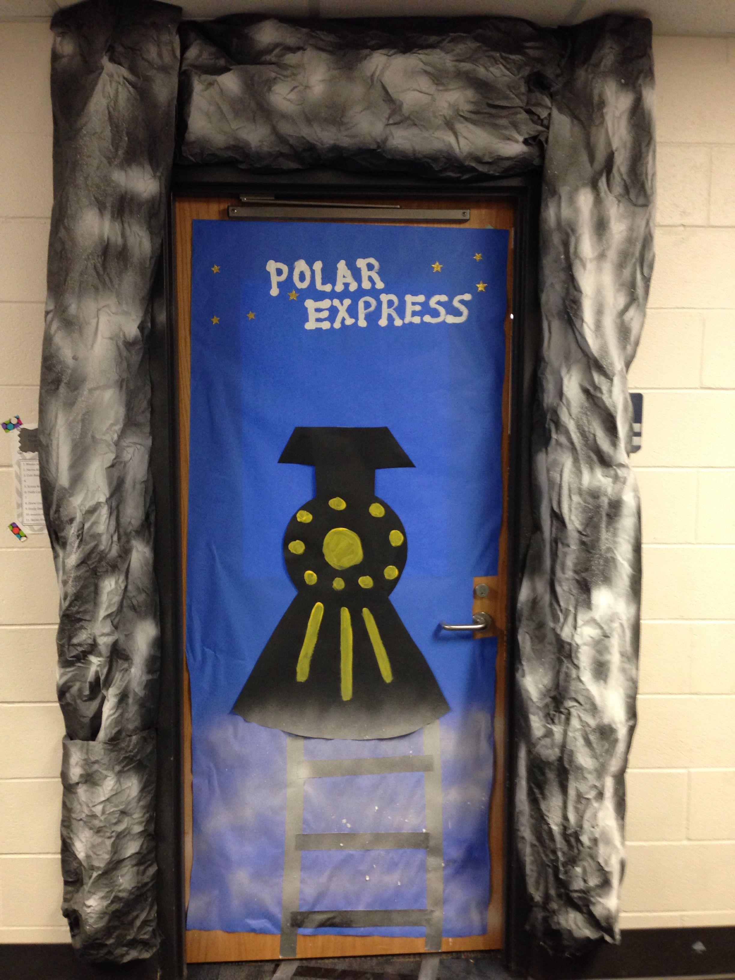 Polar Express Classroom Door With Images