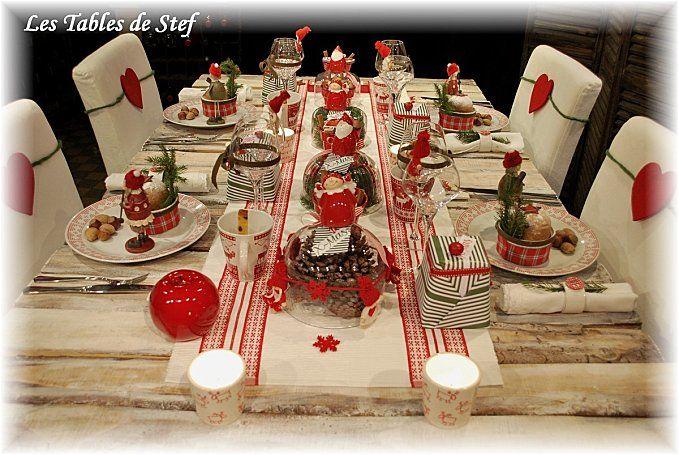 table noel traditionnel christmas pinterest christmas table decorations christmas and. Black Bedroom Furniture Sets. Home Design Ideas