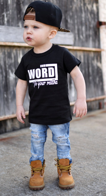 960fec2b6 $19.95 | Hipster Clothing - Hipster T Shirt - Boys Graphic Tee - Trendy  Kids Clothes - Monochrome Kids - Hipster Toddler - Word To Your Mutha - boys  fashion ...