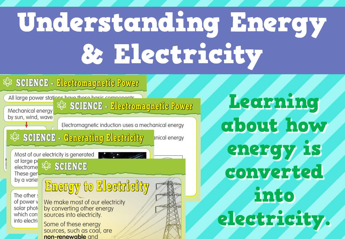 Understanding Energy & Electricity | Science | Pinterest | Student ...