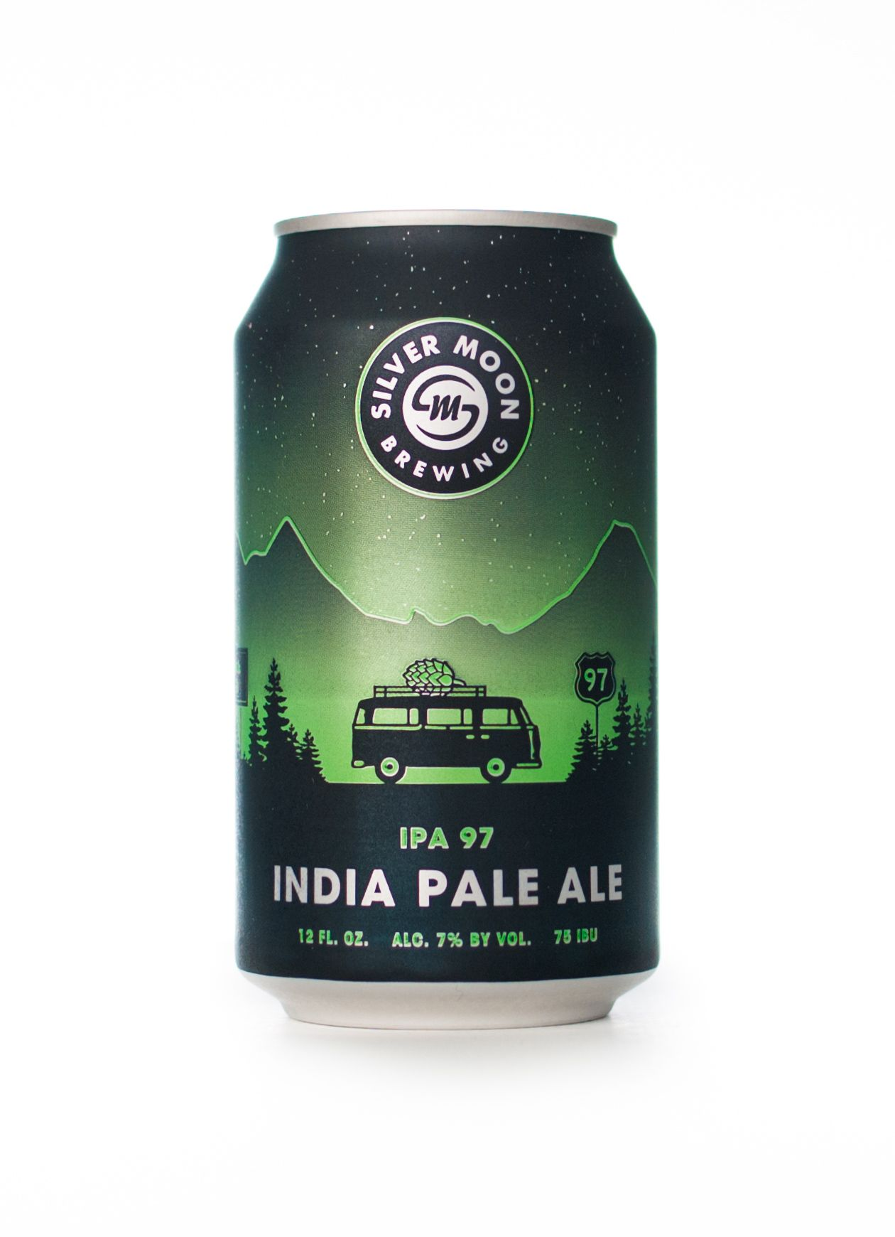 Silver Moon Brewing Craft Beer Can Design Ipa 97 Packaging