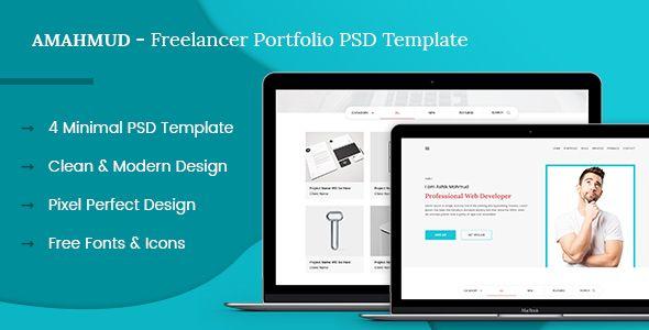AMAHMUD - Freelancer Portfolio PSD Template - PSD Templates | Best ...