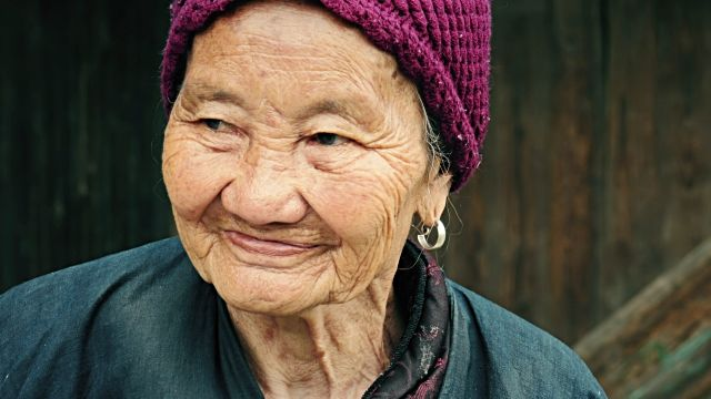 female Old asian