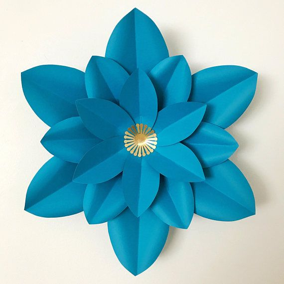 Paper Flowers -SVG Petal #10 Paper Flower Template with Base ...