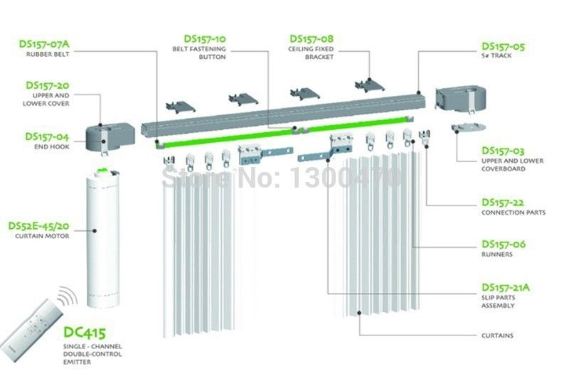 curtain track curtain track system