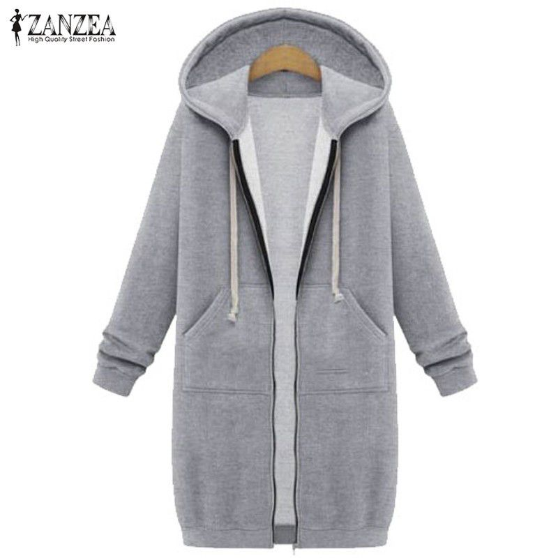 ZANZEA Winter Coats 2017 Fashion Women Long Hooded Sweatshirts ...