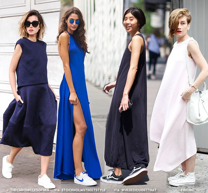 How to Wear Dress + Sneakers for Summer