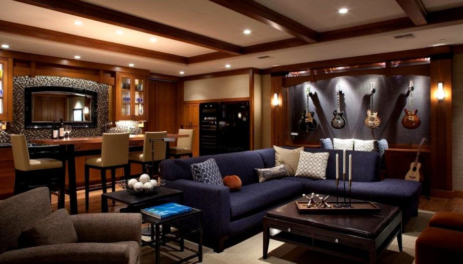 Spacious Music Room Modern Decor Inspiring Furniture With