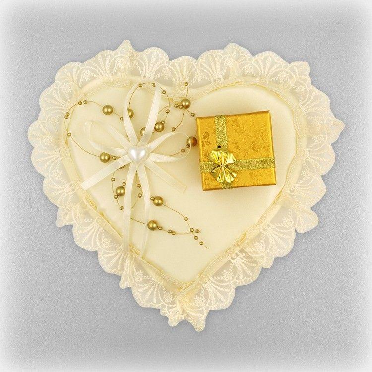 Shop Paradise Com Hochzeit Kissen Fur Ringe Herz Mit Der