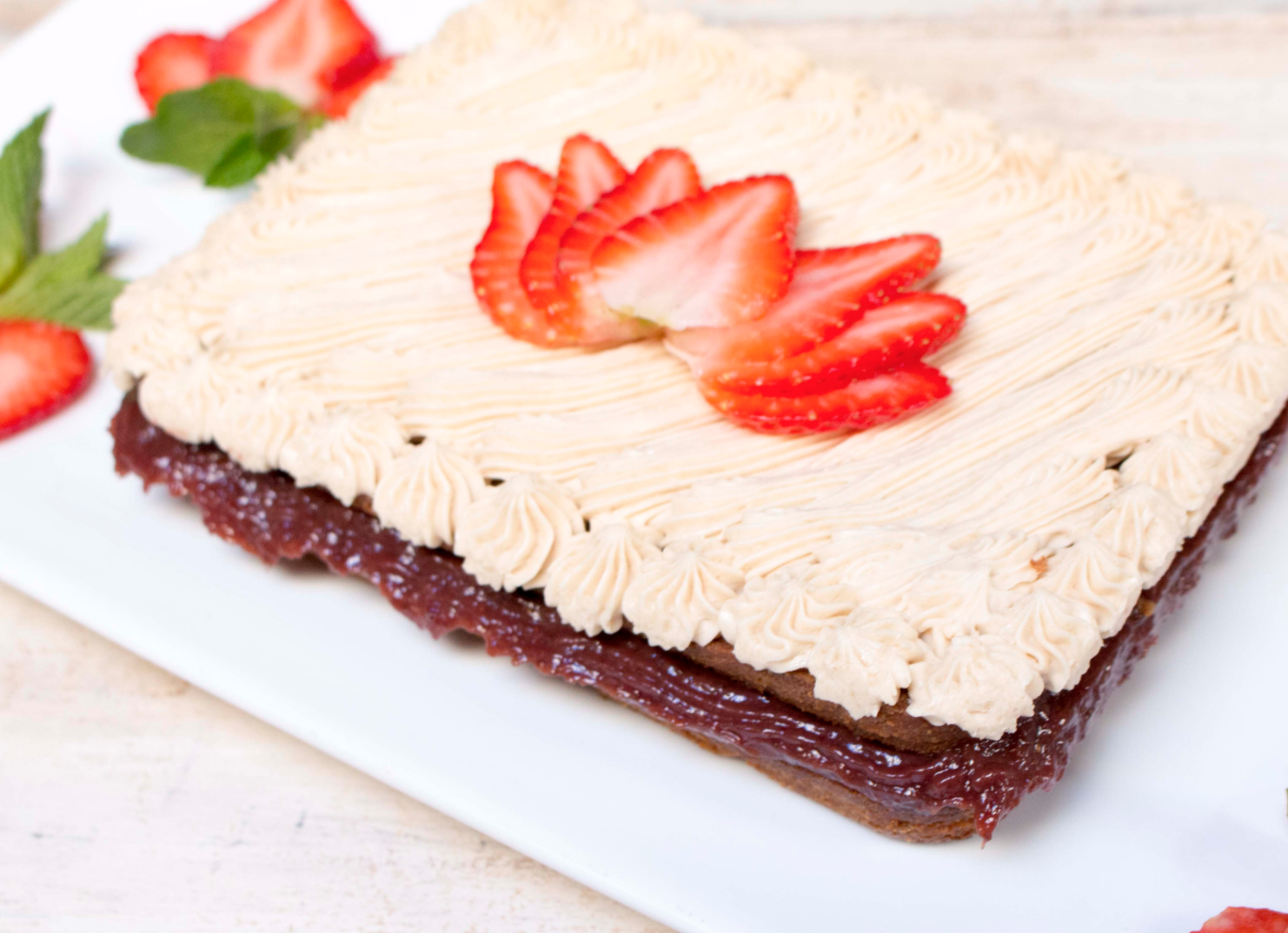 Paleo Strawberry Vanilla Cake Delivered To Your Doorstep Paleo