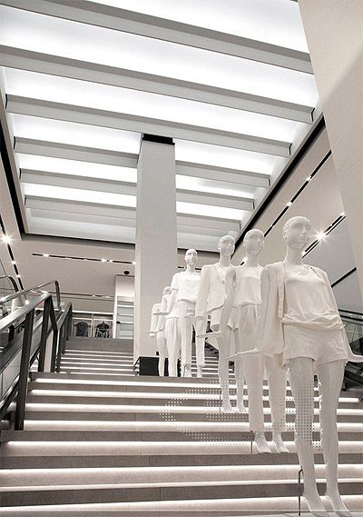 Zaras New Green Retail Store Interior Design Commercial Interior