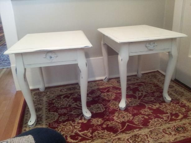 Queen Anne Style End Tables With Optional Sofa Table