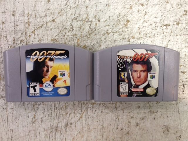 Goldeneye 007 And James Bond The World Is Not Enough Lot Of Two