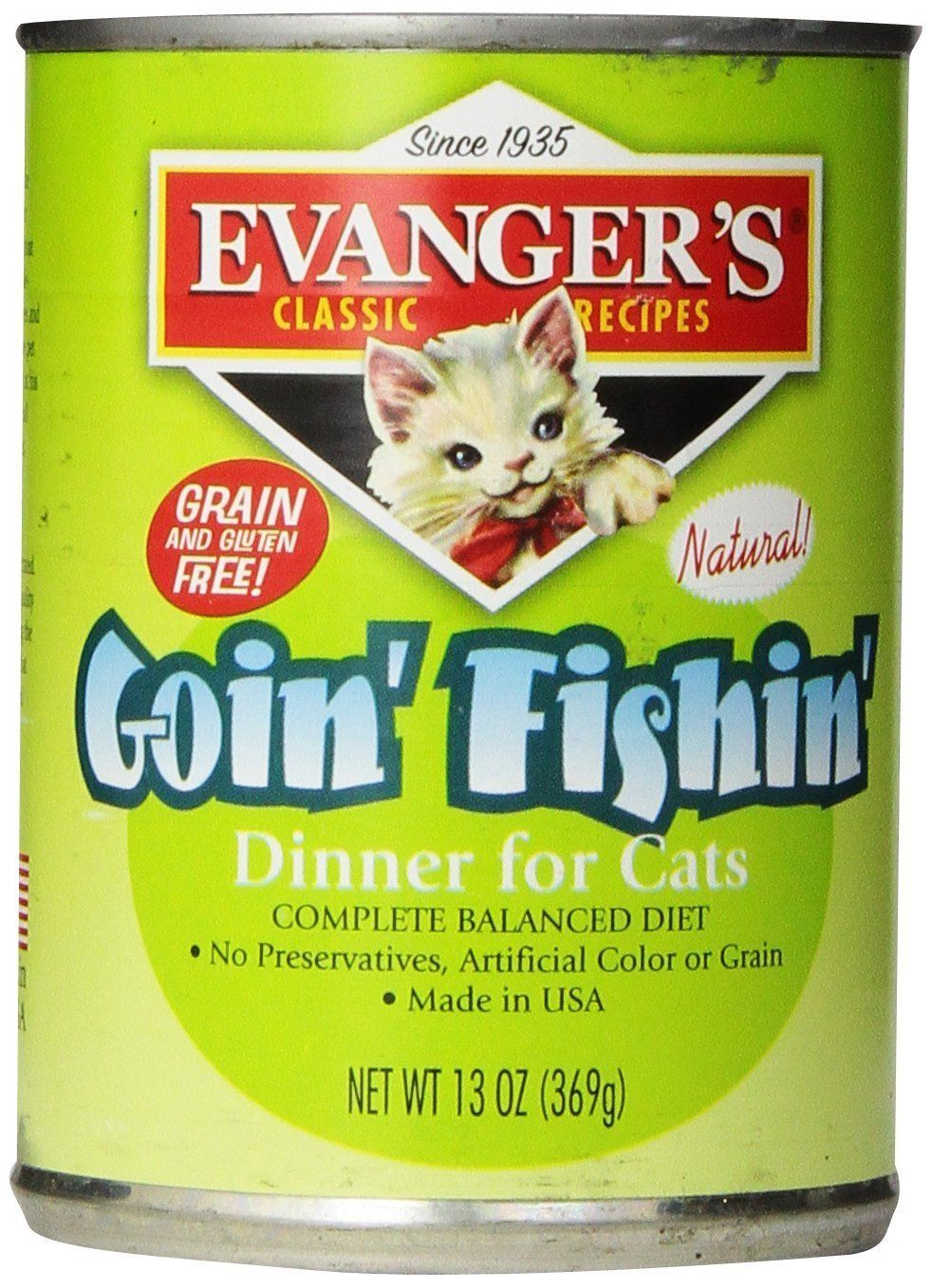 Evangers gourmet classic goin fishin dinner canned cat