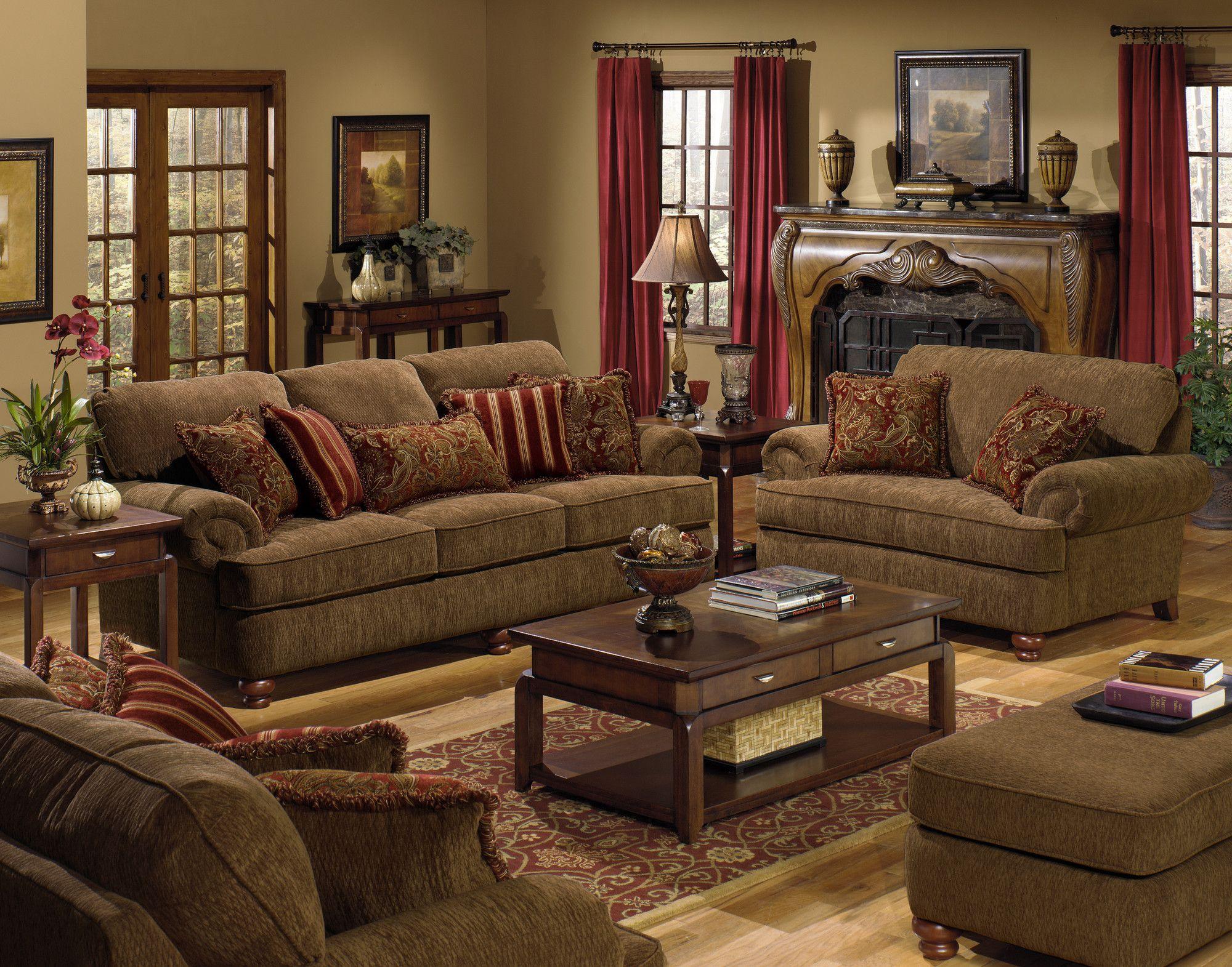 Jackson Furniture Belmont Chenille Sofa Quality Living Room Furniture Brown Living Room Living Room Sets