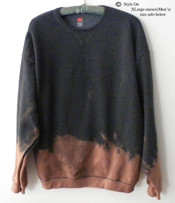 Purple Acid wash Sweatshirt, Crewneck Sweatshirt, Dip Dye sweatshirt, Boho Sweatshirt, Grunge Sweatshirt, Black Friday, Cyber Week, Gift