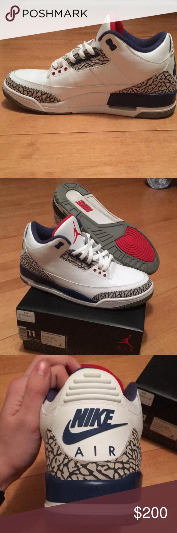 Air Jordan 3 retro true blue 2016 Like new worn twice