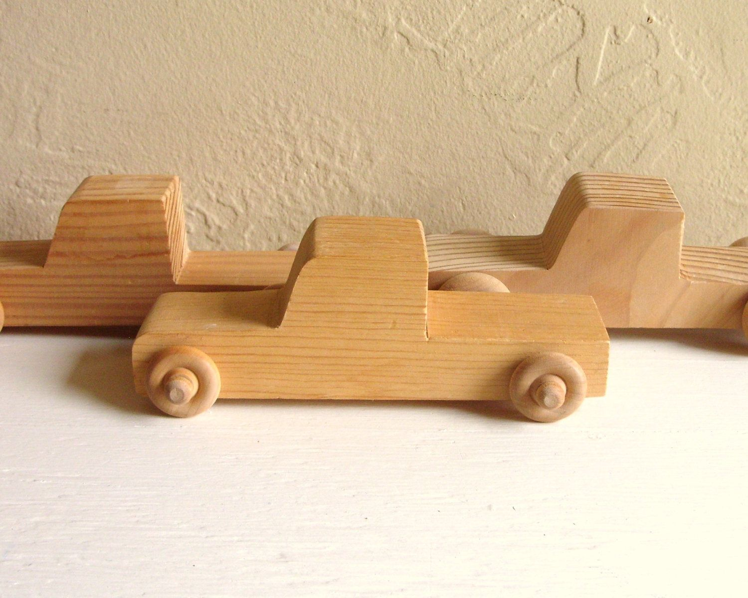 Unfinished Wood Trucks Wooden Toy Pick-up Cars - Ready to Paint or ...